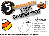 October Halloween fall STEM Activities - 5 Activities and Student Journals