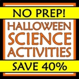 October Halloween Science Activity Stations NO PREP NGSS