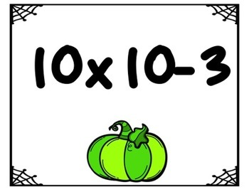 October/Halloween Solve and Color (Multiplication and Order of Operations)