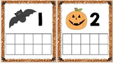 October Halloween Ten Frame Cards