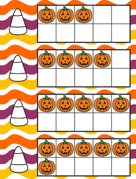 October Halloween Ten Frames, Subitizing