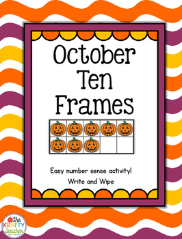 October Halloween Ten Frames, Subitizing