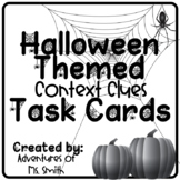 October/Halloween Themed Context Clues Task Cards (Distance Learning Friendly)