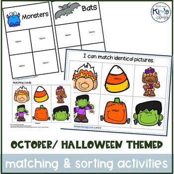 October / Halloween Themed Matching & Sorting Activities / Task Boxes