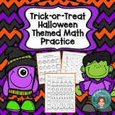 October Halloween Morning work Themed Math for First Grade