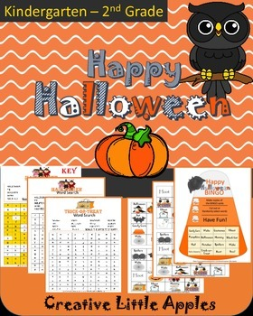 October {Halloween} Word Search & Bingo Fun! Great for Kin