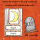 October - Halloween  - Word Wall Words and Puzzle Activity - Vocabulary