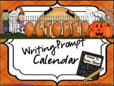 October & Halloween Writing Prompt Calendar ~ {Common Core Standards}
