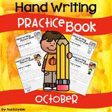 October Hand Writing Practice Book