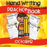 October Hand Writing Practice Book Freebies