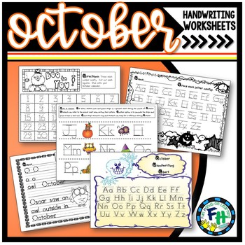 Handwriting Worksheets Activities October By Fun Hands On Learning
