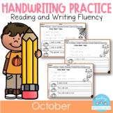 October Handwriting Practice