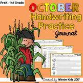 October Handwriting Practice Journal