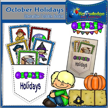 October Holidays Interactive Foldable Booklet