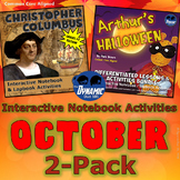 October Holidays Differentiated Interactive Notebook 2 Pack (Grades 1-3)