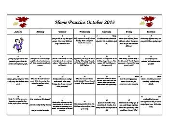 October Home Practice