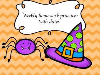 October Homework Practice for AIMSWEB or DIBELS