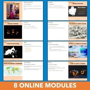 October Independent Learning Module (ILM) Halloween Chromebook Activities