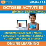 October Independent Learning Module (ILM) Halloween Chromebook Activities