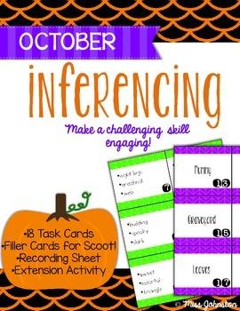 October Inferencing Task Cards