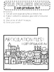 October Interactive Articulation Notebook