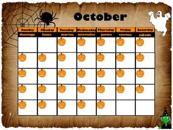 October Interactive Calendar