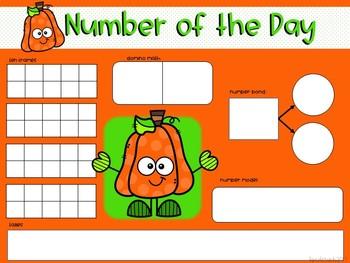 October Interactive Calendar Flipchart for 1st Grade
