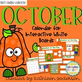 October Interactive Calendar Flipchart for 1st Grade