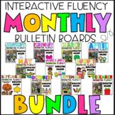 Monthly Interactive Fluency Bulletin Board Bundle   EDITABLE