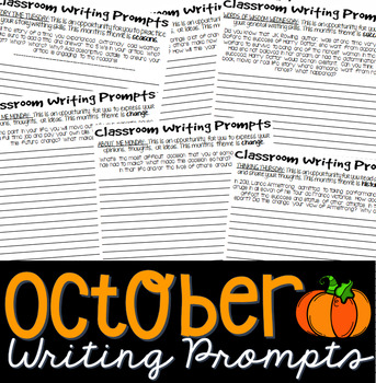 October Journal Writing Prompts