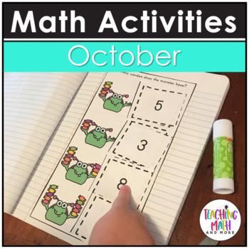 October Interactive Math Notebook Kindergarten