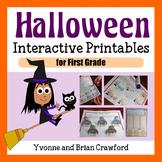 Halloween Math Interactive Printables First Grade Common Core