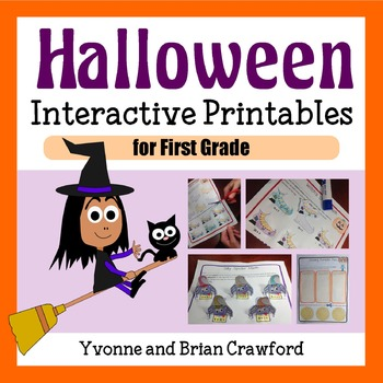 Halloween Math Interactive Printables First Grade Common Core