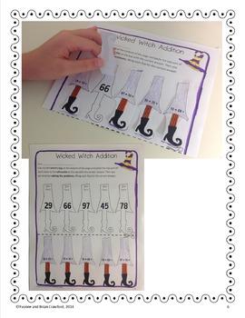 Halloween Math Interactive Printables Second Grade Common Core