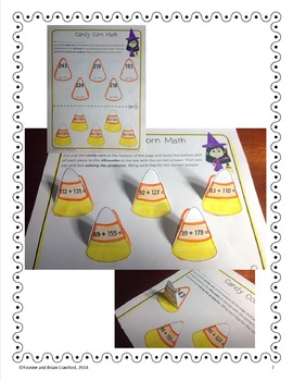 Halloween Math Interactive Printables Third Grade Common Core