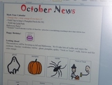 October Interactive Newsletter with Boardmaker Symbols for