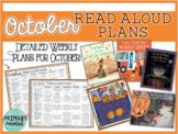 October Interactive Read Aloud Plans