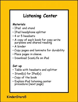 "Phase 3- October ""Thanksgiving and Halloween"" QR Codes for Listening Center"