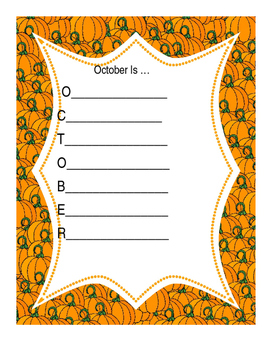 October Is acrostic