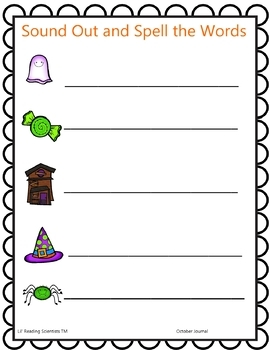 Holiday: Halloween/October Journal - Grades 1, 2, and 3 (OG)