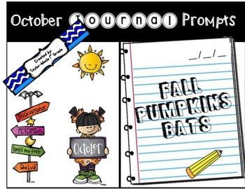 October Journal Prompts - NO PREP & PAPERLESS