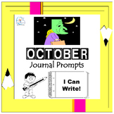 October Writing Prompts Quick Writes