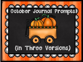 October Journal Prompts in Three Different Versions