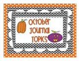 October Journal Topics for Kindergarten Level Guided Writing