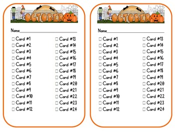 October Journal Writing Task Cards