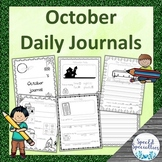 Halloween / Thanksgiving Journal Writing for Special Education (October)