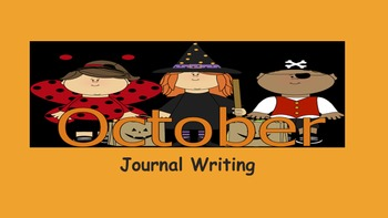 October Journal Writing/ prompts/ free writing/ independent