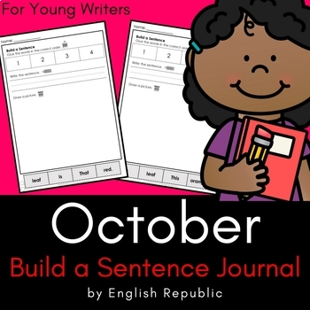 October Journal and Sketchbook for Beginner Writers - No Prep!