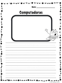 October Journal with prompts and word banks in SPANISH