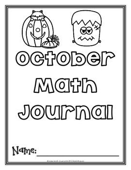 October Kinder Math Journal